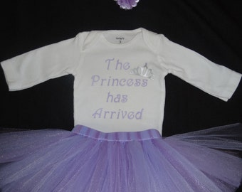 Newborn tutu set the princess has arrived, lavender tutu or Newborn photoshoot