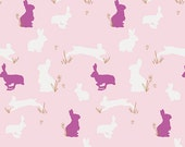 KNIT, Bunny Binkies Fluff, Metallic Gold Details, Anna Elise Collection, Bari J., Art Gallery Fabrics, Stretchy Fabric