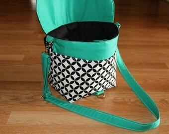 NEW-Camera bag-Digital SLR camera bag-DSLR camera case-womens camera bag-Extra bonus-Strap cover and Back pocket-blue grass