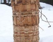 Cedar huckleberry basket