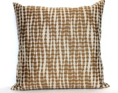 Copper Pillow Cover Decorative Pillow Modern Abstract Stripe Throw Pillow Cover Euro Sham 26x26 24x24 22x22 20x20 18x18 16x16