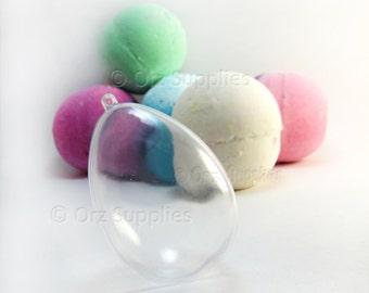 Egg Shape Bath Bomb Mold, Bath Fizzies Mold, DIY Bath Bomb Mold, Bath Bomb Supplies, 2.48 inches / 63mm, 1 Pcs