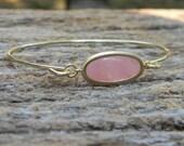 Gold Bangle Bracelet / Coral Bracelet / Bridesmaid Gift / Bridesmaid Jewelry / Bridesmaid Bracelet / Gift For Her / Coral Bangle Bracelet