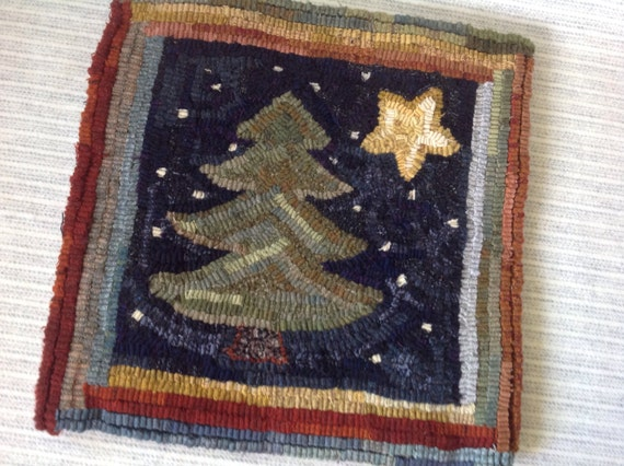 Rug Hooking Pattern Pine And Star 14 X 14 J943