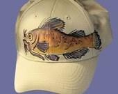 Fish Baseball Cap Handpainted