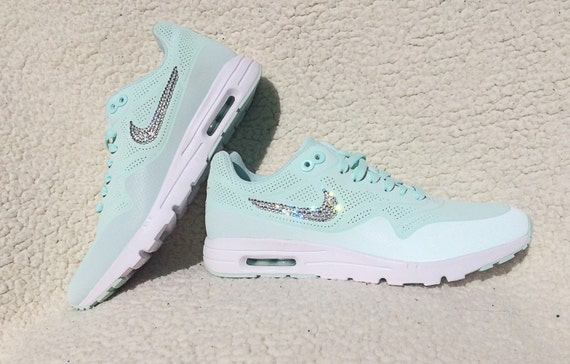 crystal nike air max 1 ultra moire fiberglass bling by. Black Bedroom Furniture Sets. Home Design Ideas