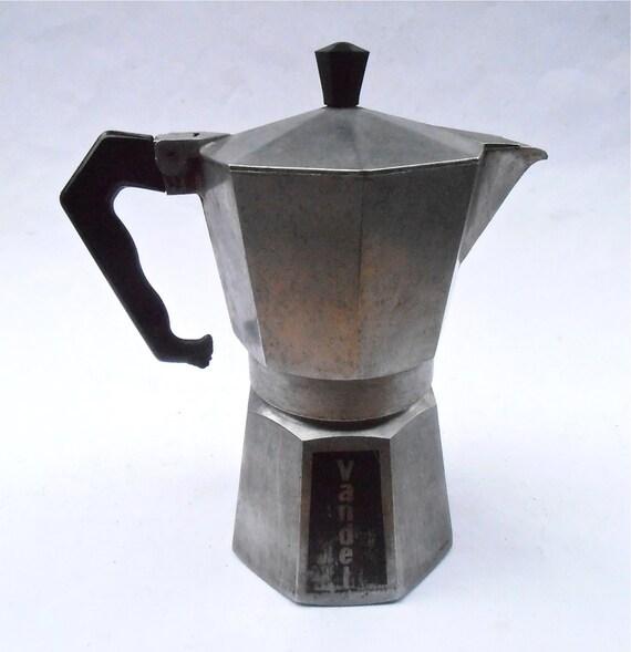 Italian Coffee Maker Aluminum : Vintage Vandel Italian Espresso Coffee Pot Maker Aluminum
