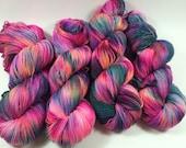 BFL Twist, Sock Yarn, Hand Dyed Yarn, Pause To Ponder, Superwash BFL, blue faced leicester, High Twist, Multi Colored Yarn, yarn