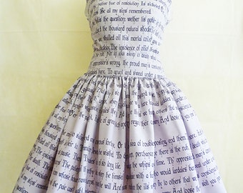 Shakeaspere Dress, Book Dress, Literature Dress UK, Hamlet's Soliloquy Full Literature Dress, Rooby Lane