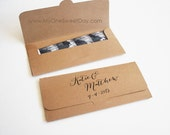Eco chic Photobooth Wedding party favors in Kraft paper Picture Envelope