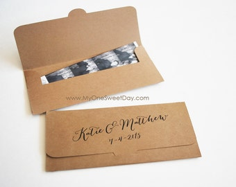 Eco chic Photobooth Wedding party favors in Kraft paper