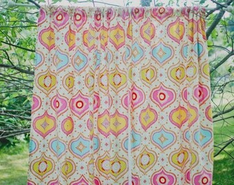 Nursery Blackout Curtains - Pink and Yellow - Blackout Curtains - Blackout