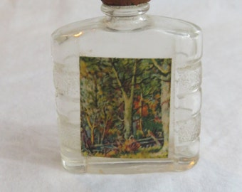 1940's Cologne Bottle with original Label and Wooden Top