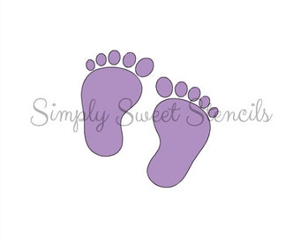 Baby Footprints Stencil