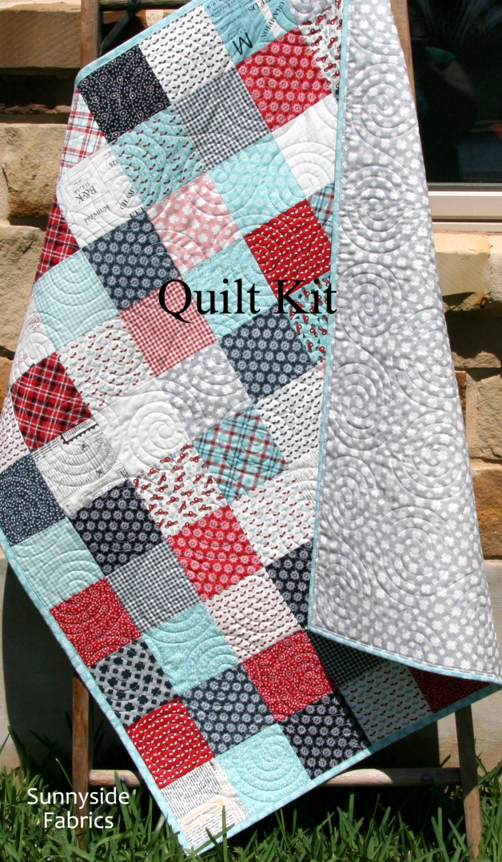 Do it yourself moda ideas de disenos ciboney last one quilt kit feed company sweetwater moda fabrics red do it yourself moda solutioingenieria Images