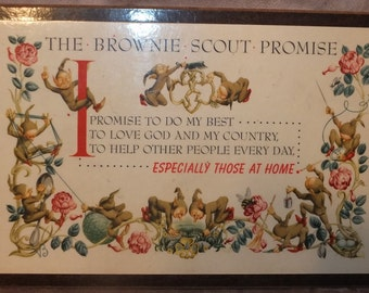 The Brownie Scout Promise Plaque