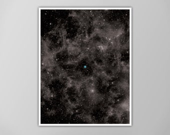 Pale Blue Dot Poster, Pale Blue Dot Print, Pale Blue Dot Galaxy Poster, Wall Art, The Cosmos Home Decor, The Pale Blue Dot Art Print, Earth