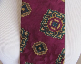Liberty of London - Mens Burgundy Red Silk Neck Tie