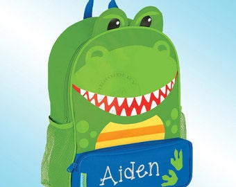 Backpack - Personalized and Embroidered - Sidekick Backpack - DINOSAUR