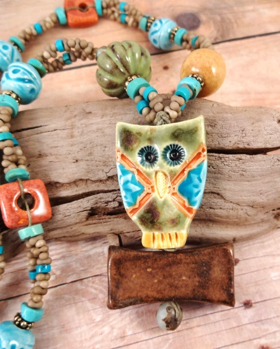 Little Hoot Ceramic Owl Necklace