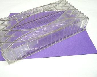 Clear Acrylic Tissue Cover Vintage Shabby Chic Kleenex Holder