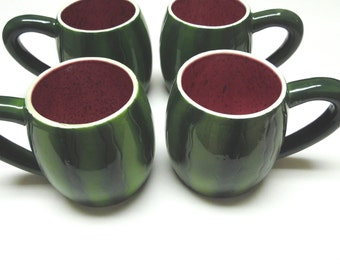 Watermelon Coffee Cup Mug Set of 4 Four