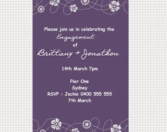 Engagement Invitation Printable