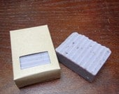 LOVELY LAVENDER- one bar of lavender scented handmade cold process soap made with all plant based oils