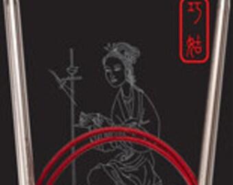 "Chiaogoo RED Lace 40"" circular knitting needles"