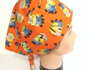 Minion descpicable surgical scrub cap