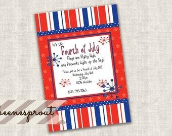 Fireworks Fourth of July Invitation