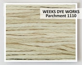 PARCHMENT 1110 Weeks Dye Works WDW hand-dyed embroidery floss cross stitch thread at thecottageneedle.com