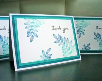 Thank You Notecards Set of 4, Hostess Gift