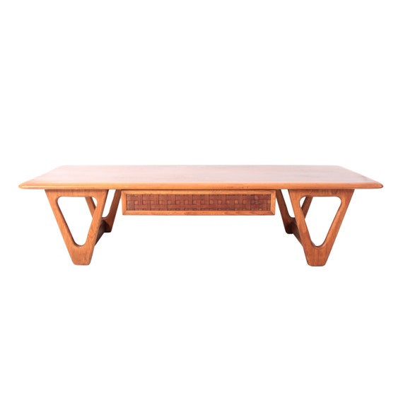 Long Vintage Lane Mid Century Modern Coffee Table By