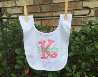 Personalized Bib with Letter Applique