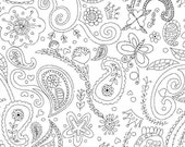 ON SALE! Michael Miller Fabric - Princess Paisley - Color Me by Hayley Crouse - By The Yard