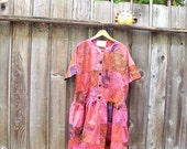 Sale French Country Dress/ Ethical Fashion Patchwork Hippie Bohemian
