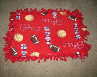 Polar Fleece Ohio State Sports Security Baby Blanket or Pad