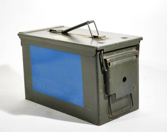 Vintage Metal Ammunition Box Military