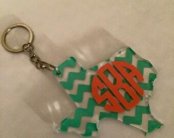 Personalized Acylic Texas Key chain