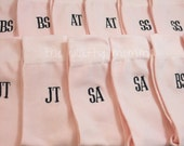 Blush Pink Mens Monogram Socks - Crew Length - groomsmen gift - wedding party gift - grooms gift - wedding socks