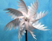 White Dove Pinwheel Spinner Whirligig Windmill