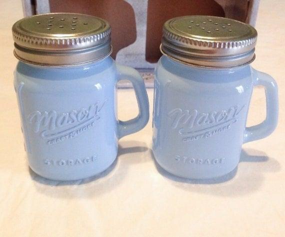 Retro Salt Pepper Shakers Salt Pepper Shakers Blue