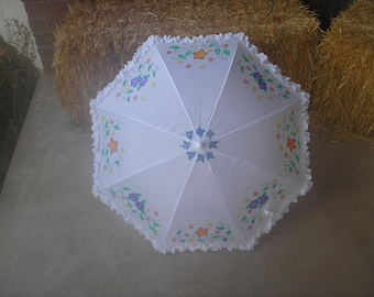 Personalized Summer Starfish Parasol umbrella for Rain, Shine, or Weddings