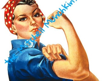 Rosie the Riveter clipart INSTANT DOWNLOAD
