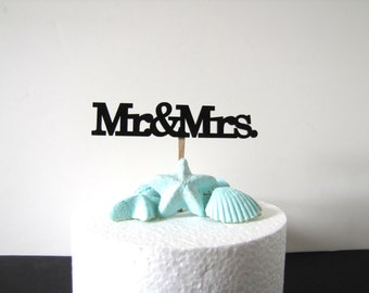 Mr and Mrs Cake Topper, Wooden Mr and Mrs Cake topper