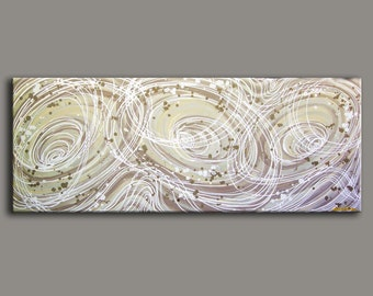 Abstract Painting.  60 inches  HUGE Original DEEP Artist Canvas  Textured Palette Knife Painting,   Ready to Hang