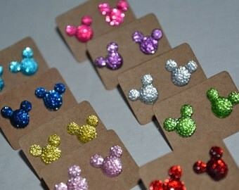 Mickey Mouse Inspired Jeweled Earrings