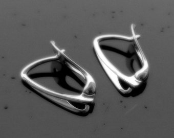 Sterling Silver Lever Back ear hooks earrings