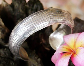 Thailand Silver Bangle - Silver Bangle Curved Plate